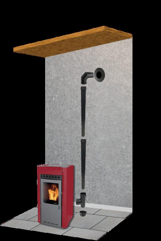 kit de fumisterie complet pour po le granul s diam tre 80 mm. Black Bedroom Furniture Sets. Home Design Ideas