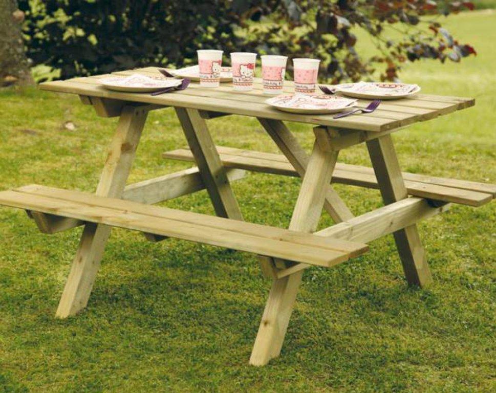 Table de jeux pour enfants en bois Douglas