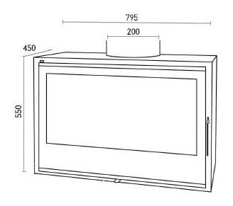 insert po le bois mod le sl280. Black Bedroom Furniture Sets. Home Design Ideas