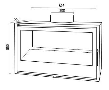 insert po le bois mod le sl290df. Black Bedroom Furniture Sets. Home Design Ideas